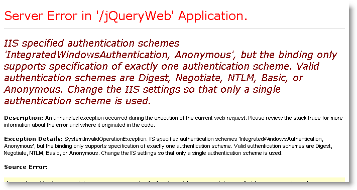 WcfAuthenticationSingleOnly