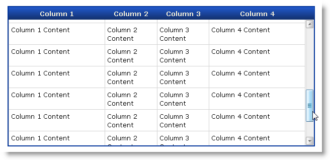 Building a jQuery Plug-in to make an HTML Table scrollable - Rick