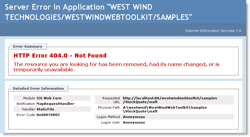 ASP NET Routing not working on IIS 7 0 - Rick Strahl's Web Log
