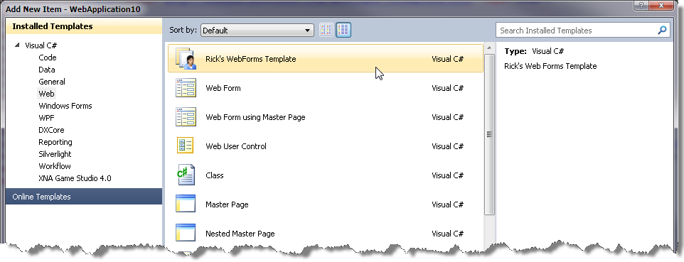 Changing the default HTML Templates to HTML5 in Visual