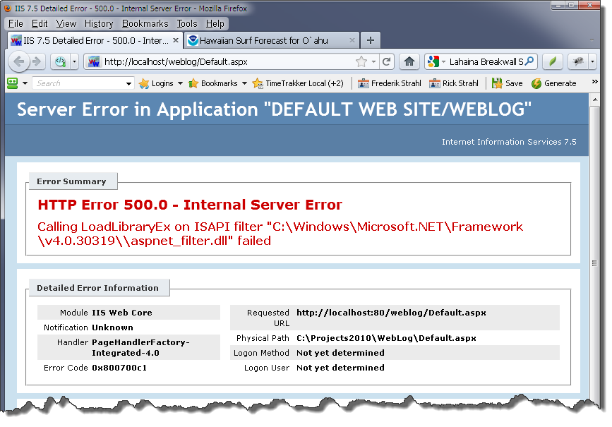 Error on 64 Bit Install of IIS – LoadLibraryEx failed on