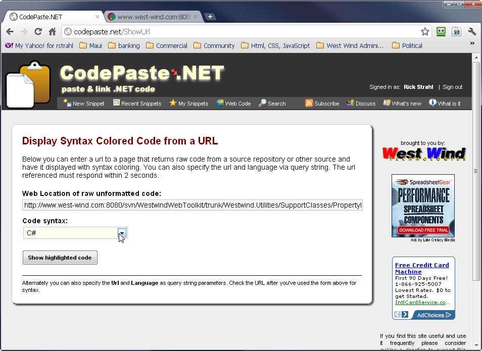 WebCodeForm