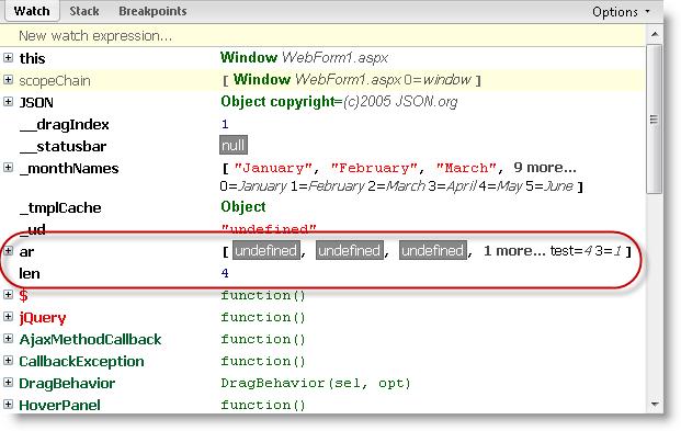 Javascript Array Fun - Rick Strahl's Web Log
