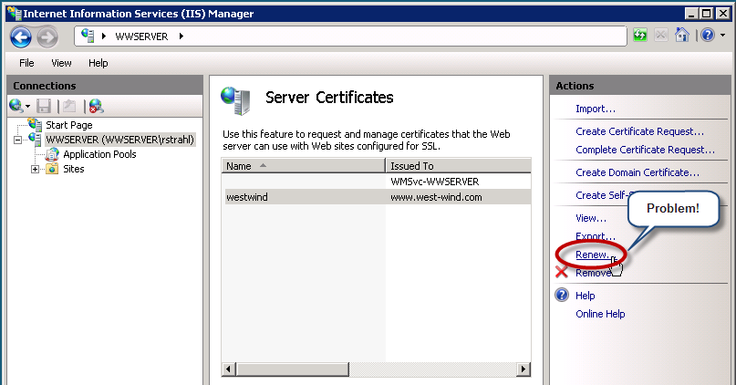 Ssl Certificate Renewal Pain Rick Strahls Web Log