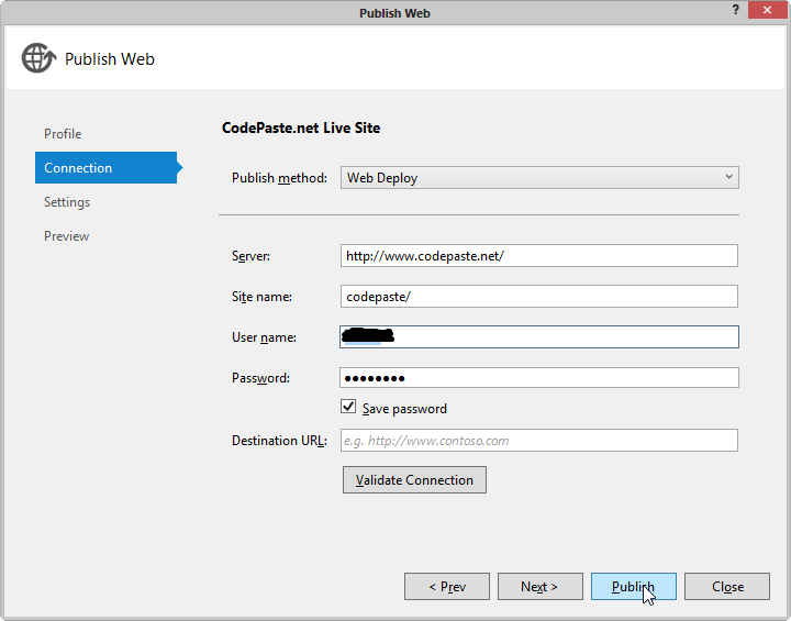 Publish Individual Files to your Server in Visual Studio 2012.2