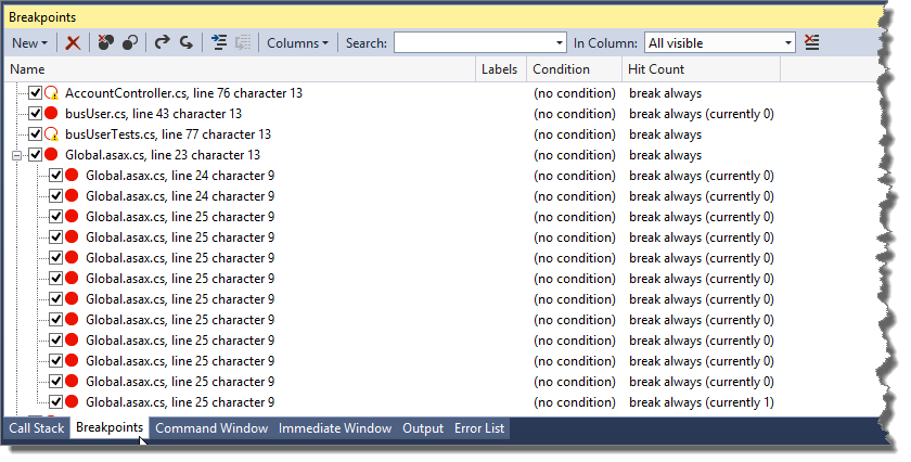 Visual Studio 2013 'Could not evaluate Expression' Debugger