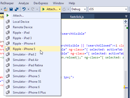 Using Cordova and Visual Studio to build iOS Mobile Apps