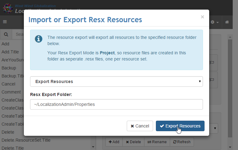 ExportResources