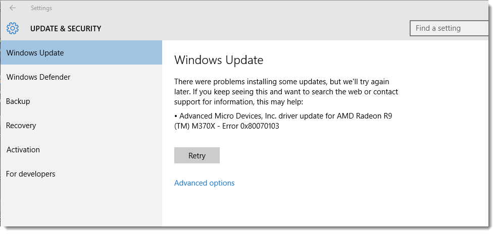 Windows 10 updates failed to install | Solved: Feature update to