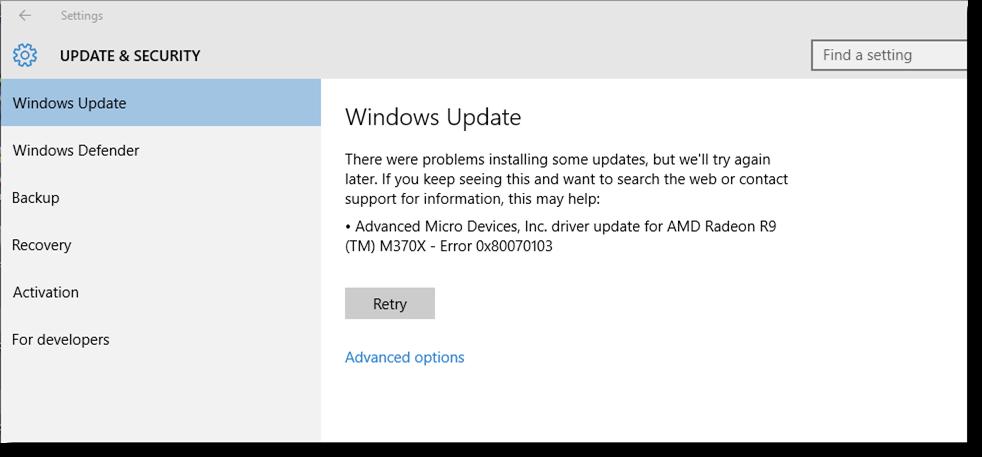 Windows Update Fail