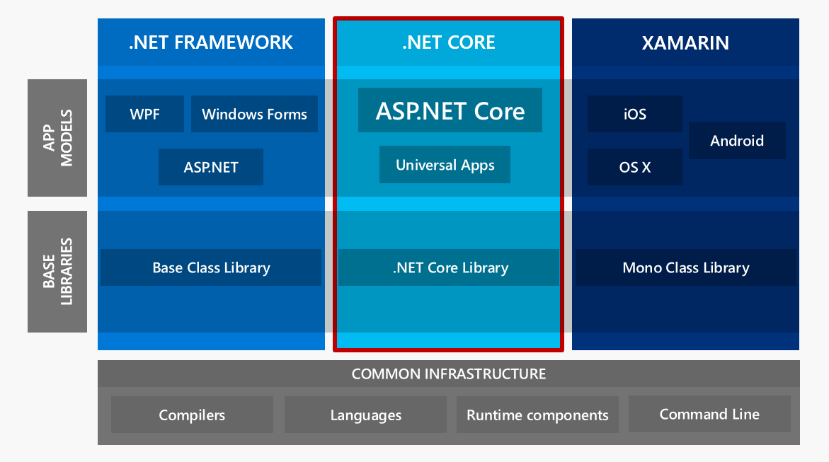 .NET Platform Infrastructure today