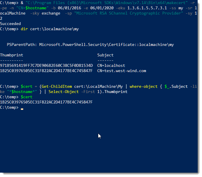 Use Powershell To Bind Ssl Certificates To An Iis Host Header Site