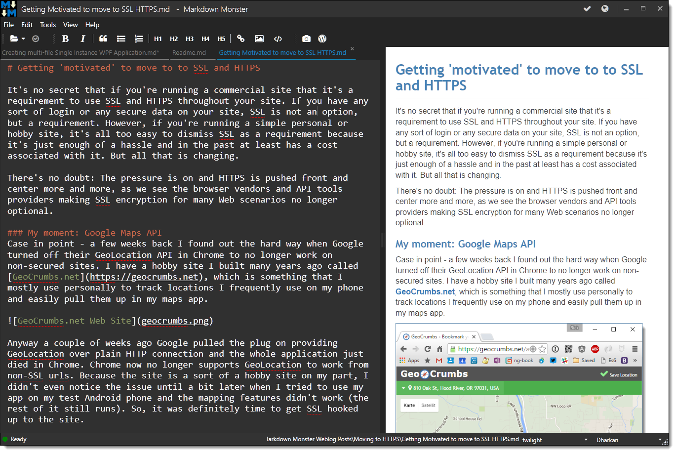 Markdown Monster Screenshot
