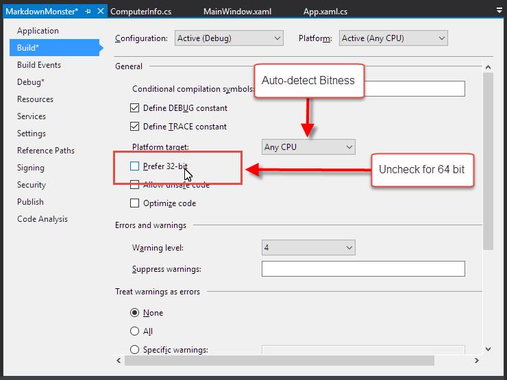 Visual Studio Debugging and 64 Bit  NET Applications - Rick