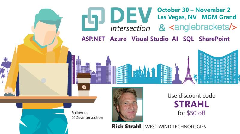 ASP.NET DevIntersection 2017. Rick Strahl Coupon Code