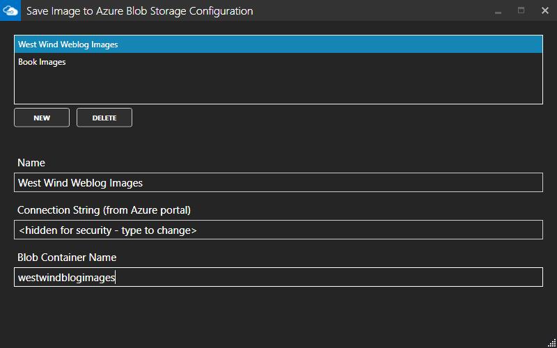 Azure Connection Configuration