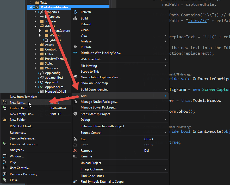 Adding Files to Visual Studio Projects - Rick Strahl's Web Log