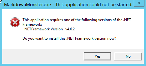 Dotnet Runtime 4.6.2 not installed