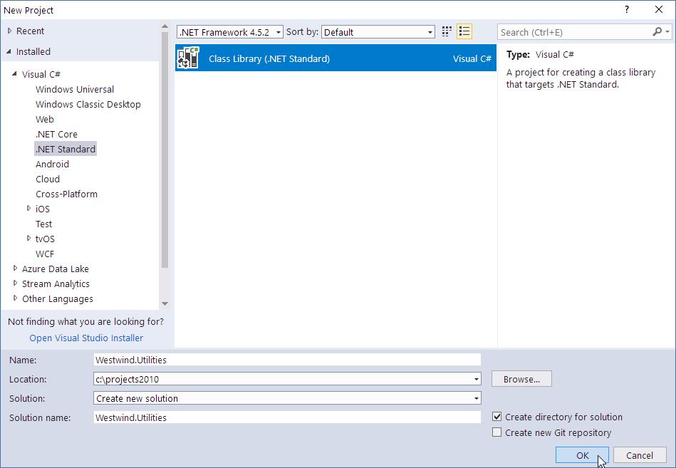 Creating a .NET Standard Class library