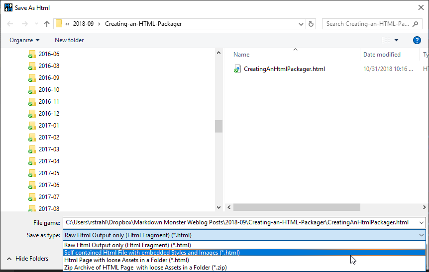 Creating an HTML Packager - Rick Strahl's Web Log