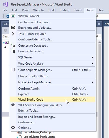 Tip: Open Visual Studio Code from Visual Studio as an External Tool