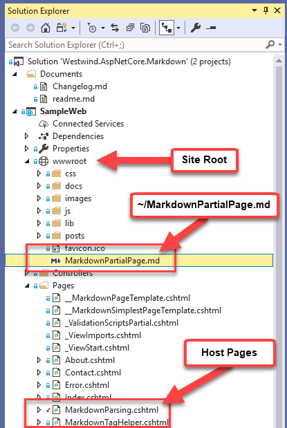 Updating Westwind AspnetCore Markdown with Markdown from Files and