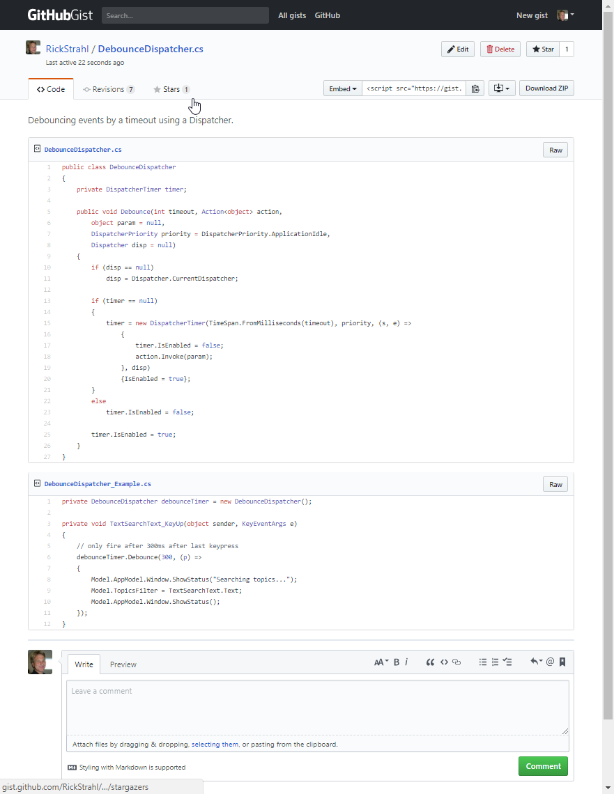 Using Gists for General Purpose Web Pages with Markdown - Rick