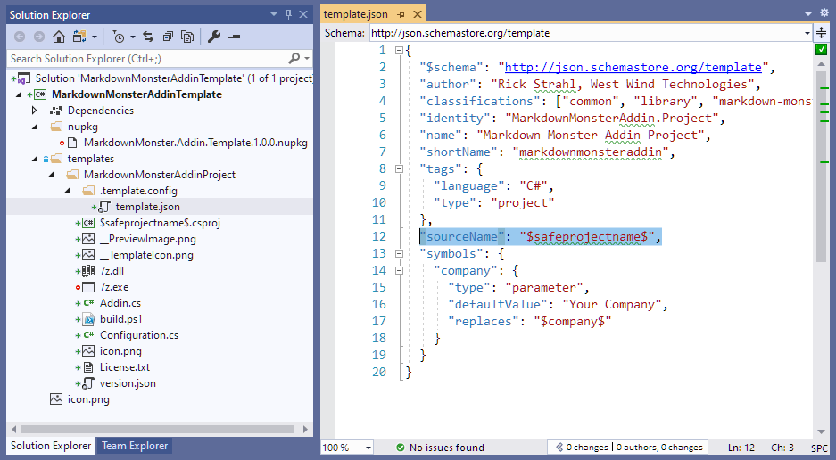 Creating a dotnet new Project Template